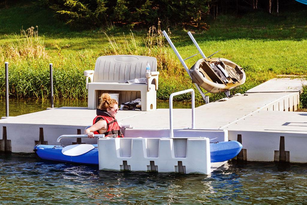 Roto-molded kayak dock
